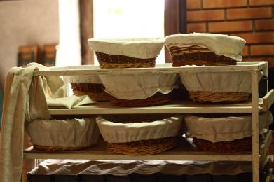 Les boules de pâte attendent la cuisson.