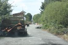 La route des barricades.