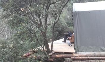 Installation d'un marabout avec terrasse