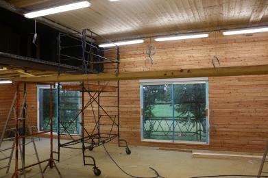 Atelier de menuiserie en construction